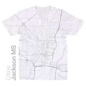Image of Jackson MS map t-shirt