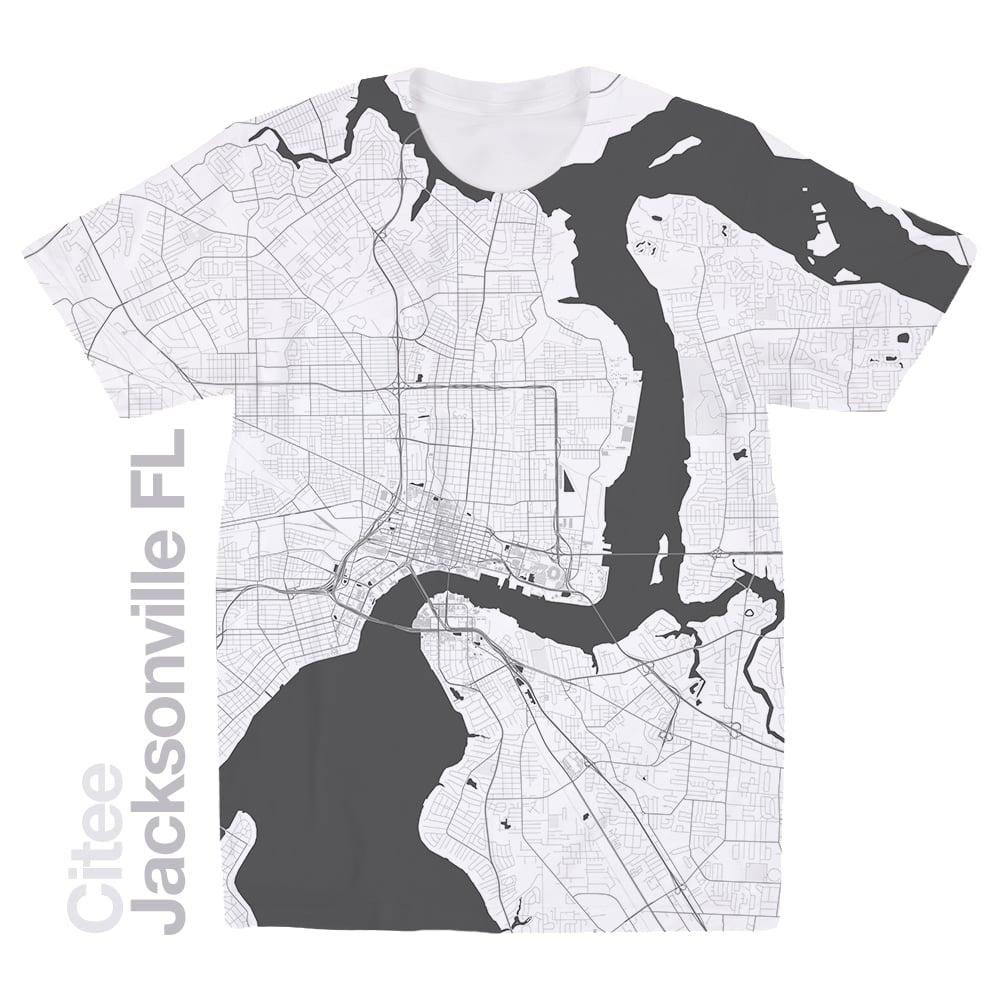 Jacksonville Florida Map.Citee Fashion Jacksonville Fl Map T Shirt