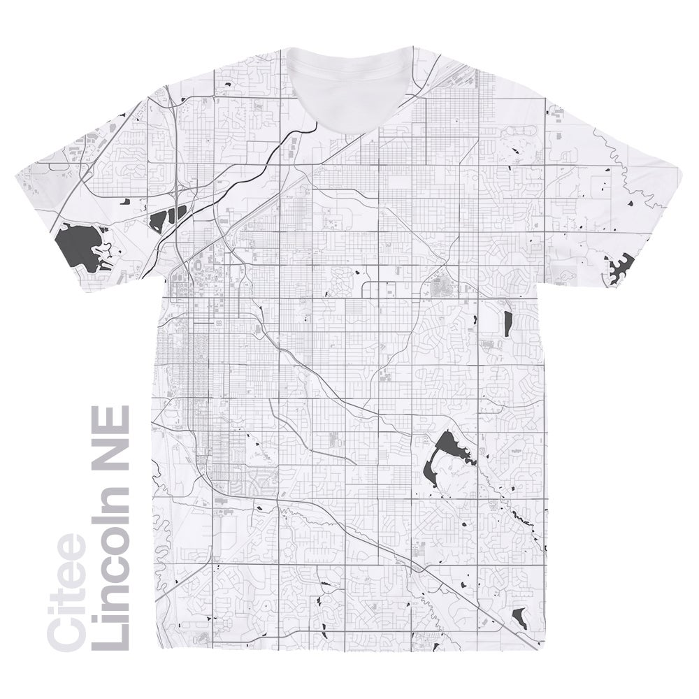 Lincoln NE map t-shirt