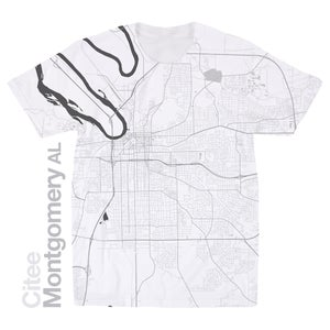 Image of Montgomery AL map t-shirt
