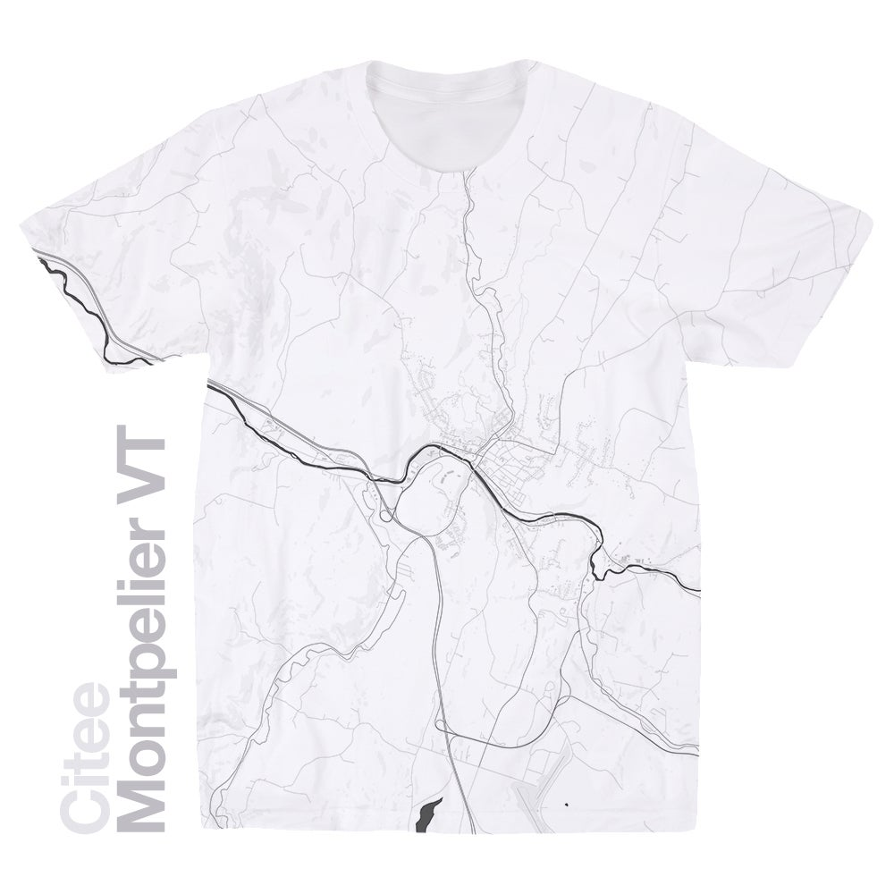 Image of Montpelier VT map t-shirt
