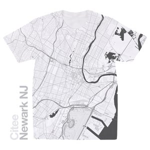 Image of Newark NJ map t-shirt