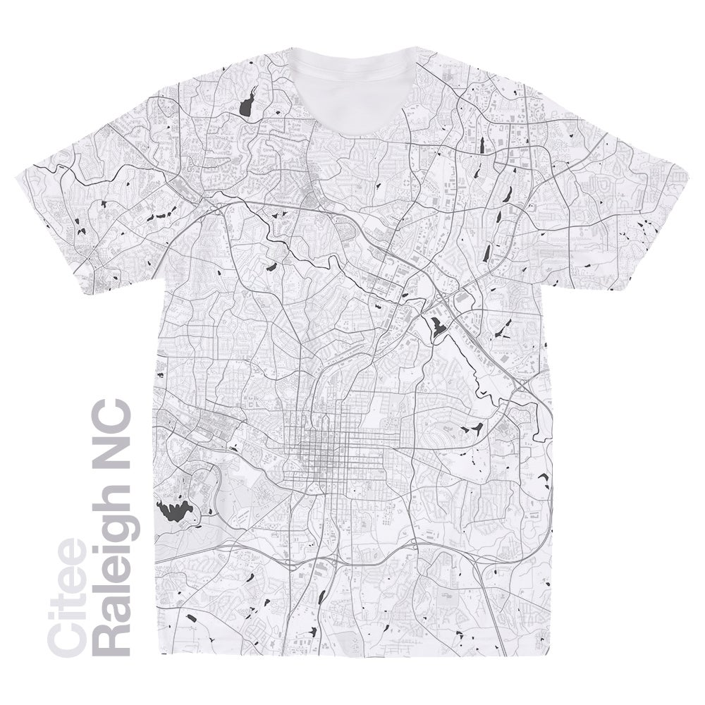 Citee Fashion | Raleigh NC map t-shirt
