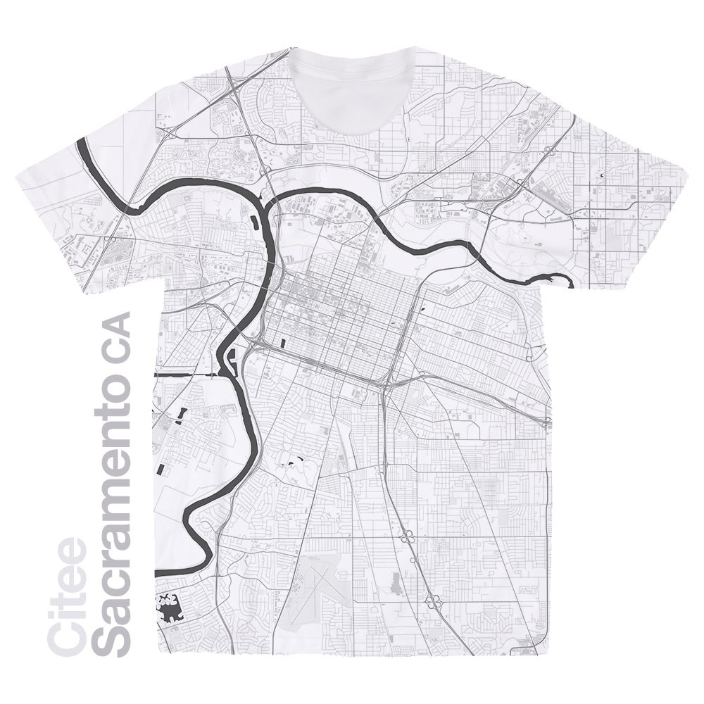 Image of Sacramento CA map t-shirt