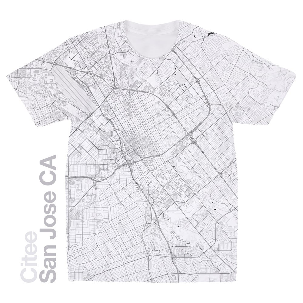 Image of San Jose CA map t-shirt