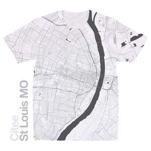 Image of St Louis MO map t-shirt