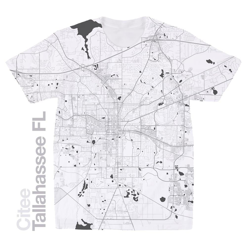 Tallahassee Florida Map.Citee Fashion Tallahassee Fl Map T Shirt