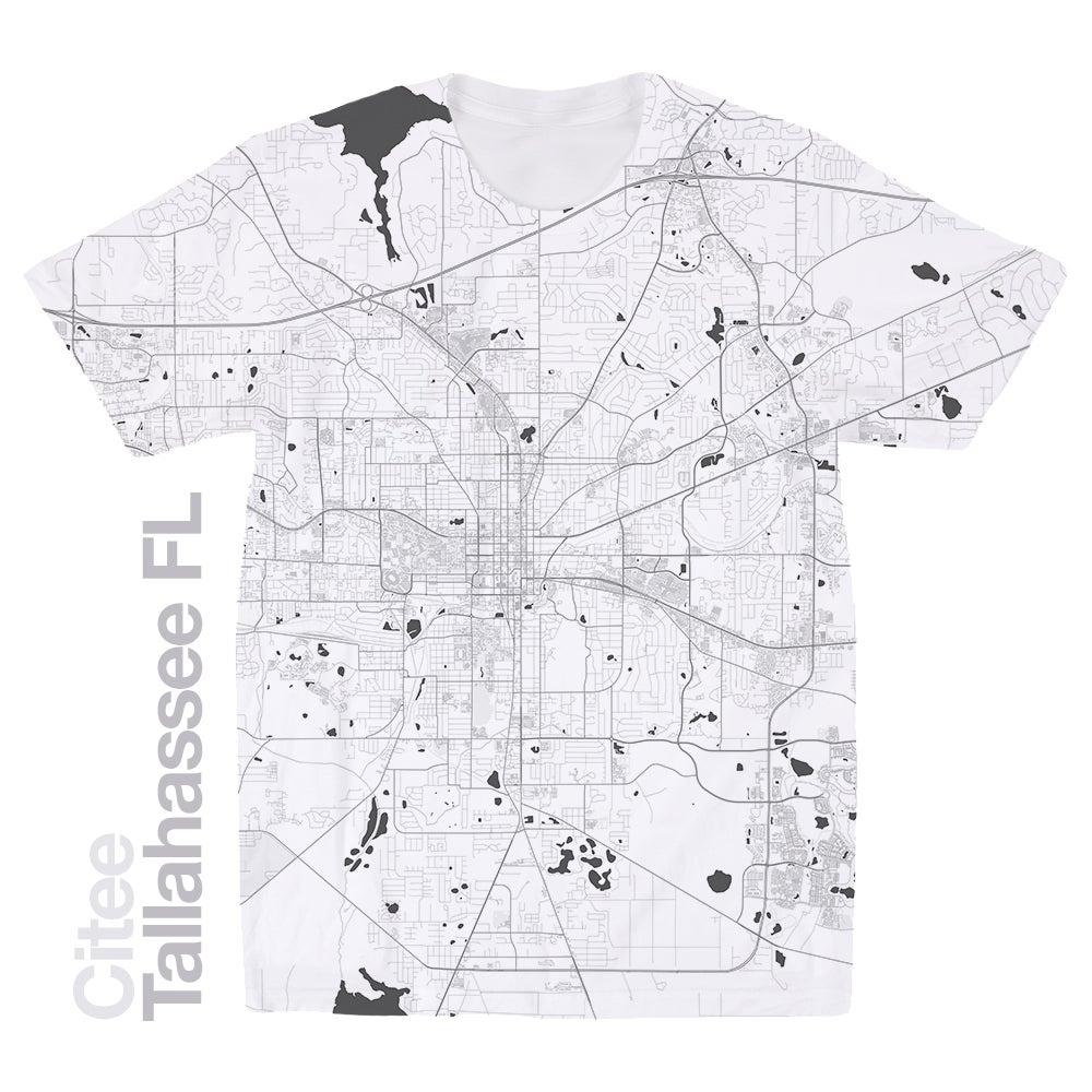 Tallahassee FL map t-shirt