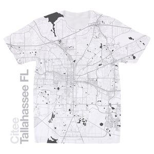 Image of Tallahassee FL map t-shirt