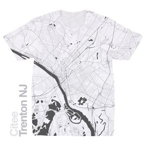 Image of Trenton NJ map t-shirt