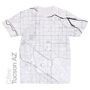 Image of Tucson AZ map t-shirt