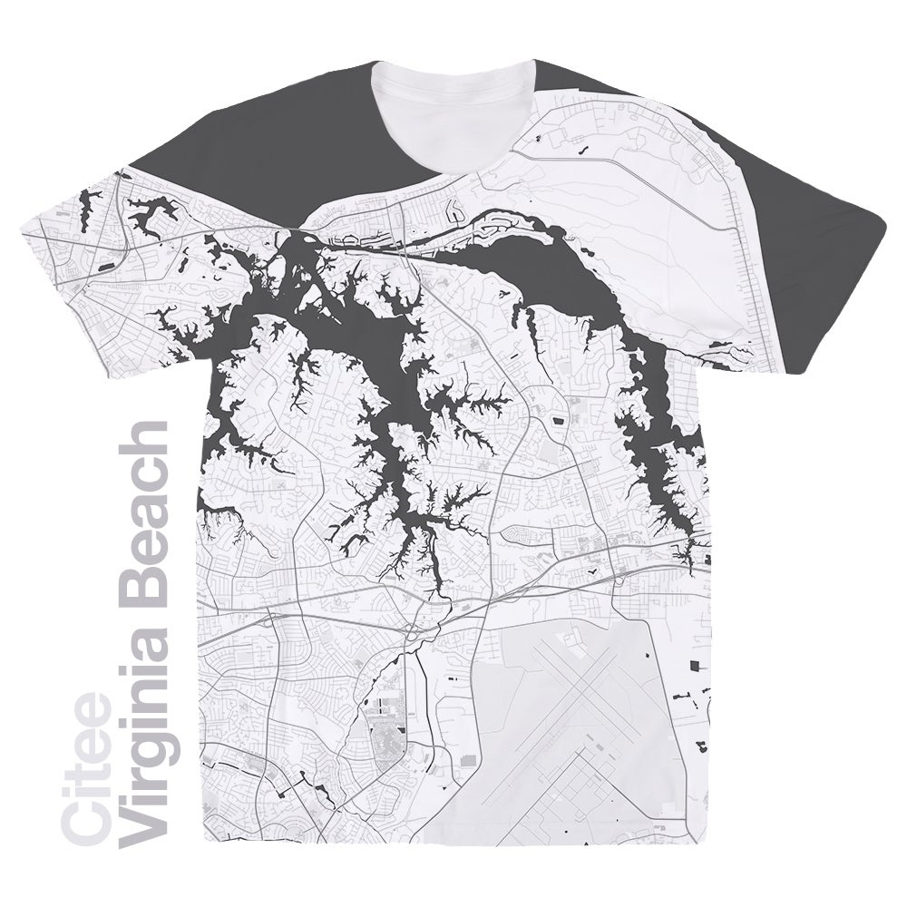 Image Of Virginia Beach Va Map T Shirt