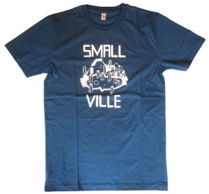 Image of Smallville Shirt Logo - petrol blue/ white
