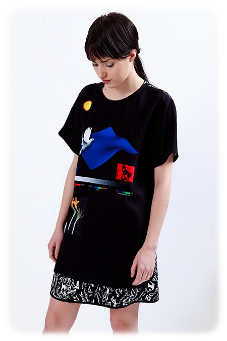 Image of Oversize Tee with Contrast Back