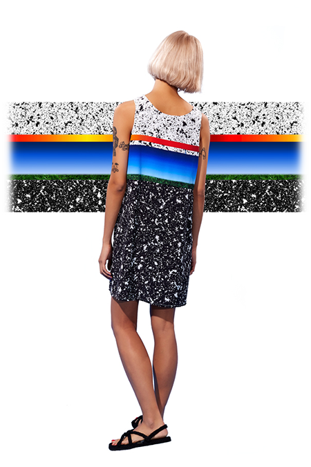 Image of Silk Paneled Tank Dress