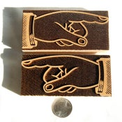 Image of A pair 12 line of Morgans Open Manicules