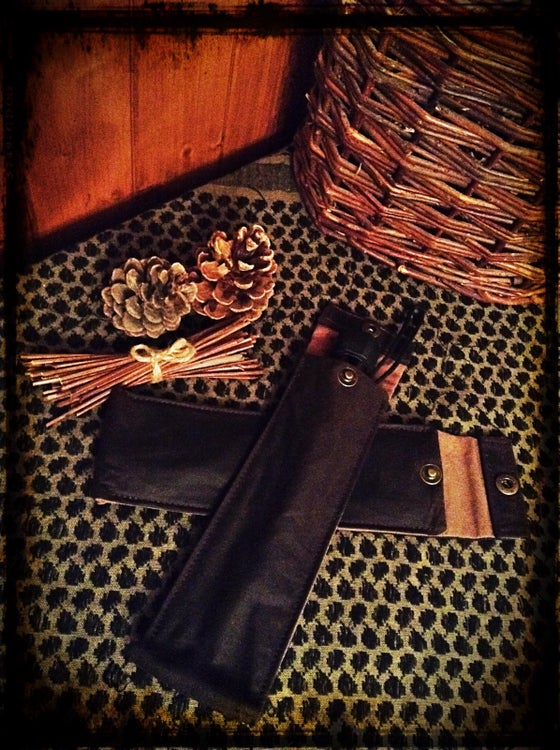 Image of Long Oilskin Pouches