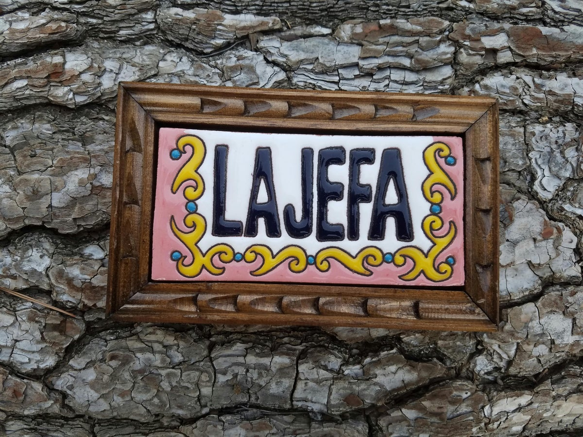 Image of La Jefa Rectangle Wood Framed Tiles