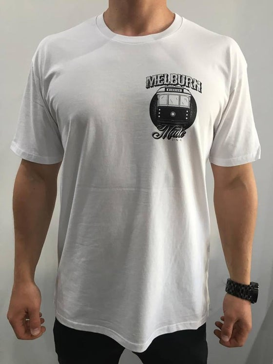 Image of Melburn Made Tram Tee Regular Fit White
