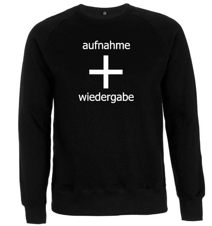 Image of aufnahme + wiedergabe Logo Sweatshirt (pre-order until October 1)