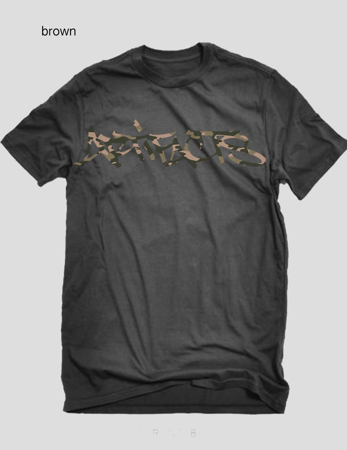 Image of  ARTIFACTS CAMO Signature tag logo tee (brown)