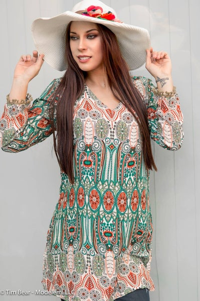 Image of Dress - Aztec Print