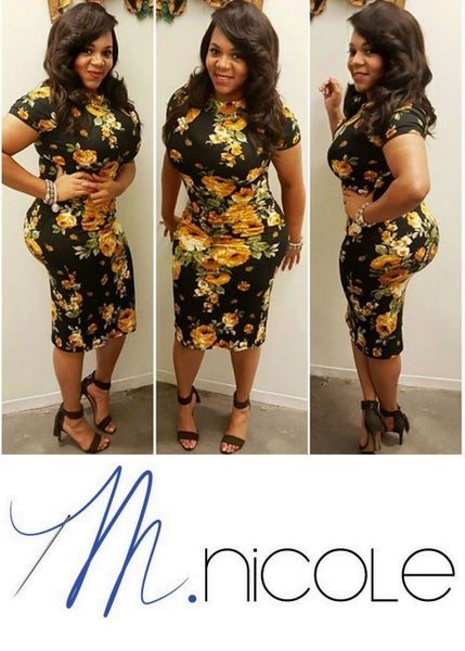 Image of M.Nicole Closet | Floral Fitted Dress