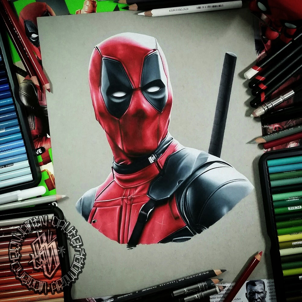 Image of Limited edition deadpool print (A4)