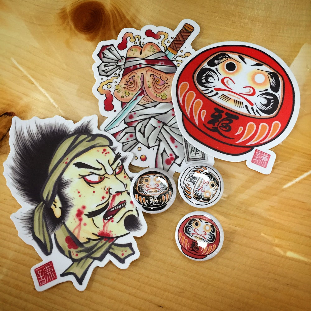 Image of Sticker and Buton Pack