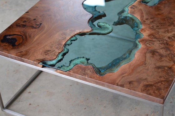 Image of claro walnut burl river® coffee table