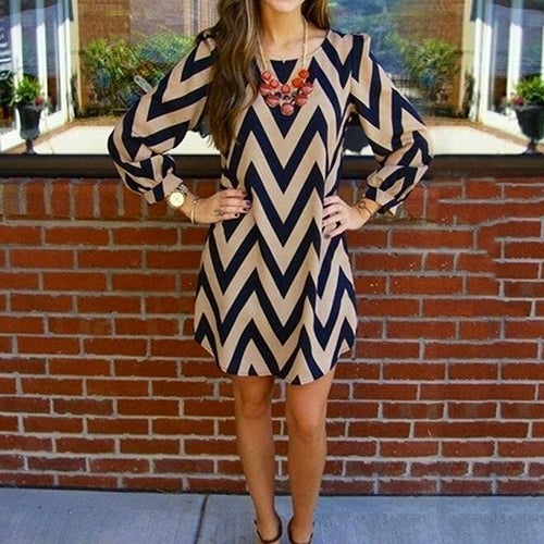 Image of Dress - Chevron