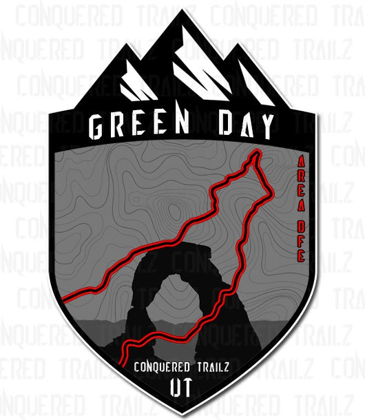 """Image of """"Green Day"""" Trail Badge"""