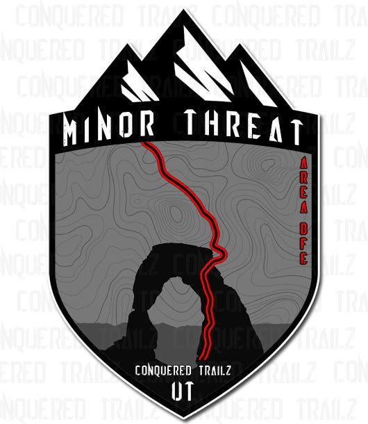 "Image of ""Minor Threat"" Trail Badge"