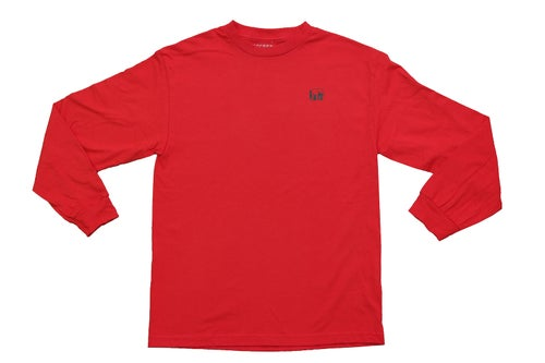 Image of Logo Long Sleeve Tee (Red)