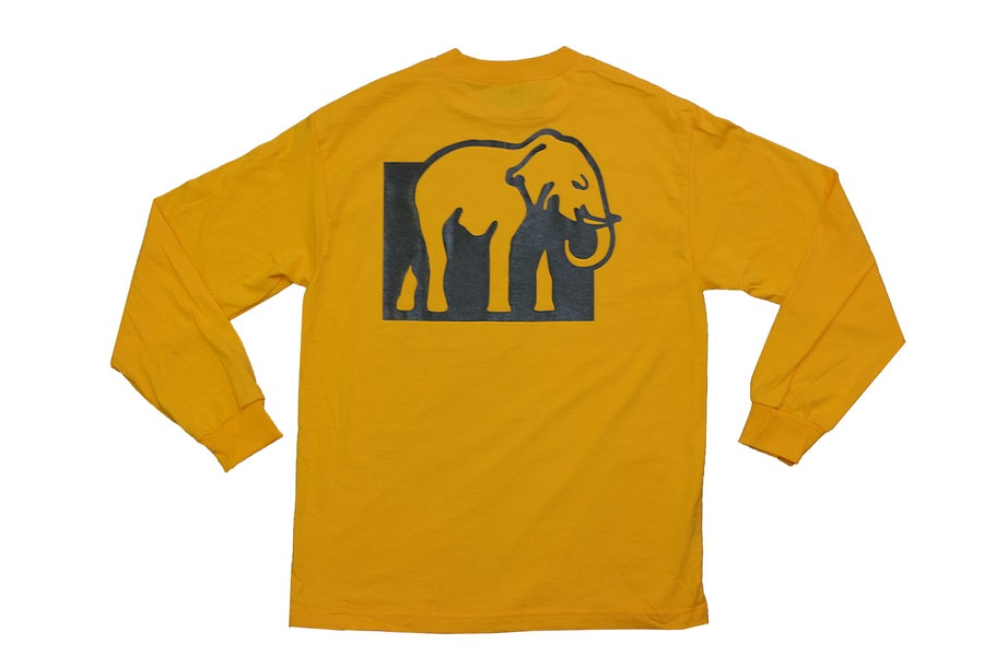 Image of Logo Long Sleeve Tee (Gold)