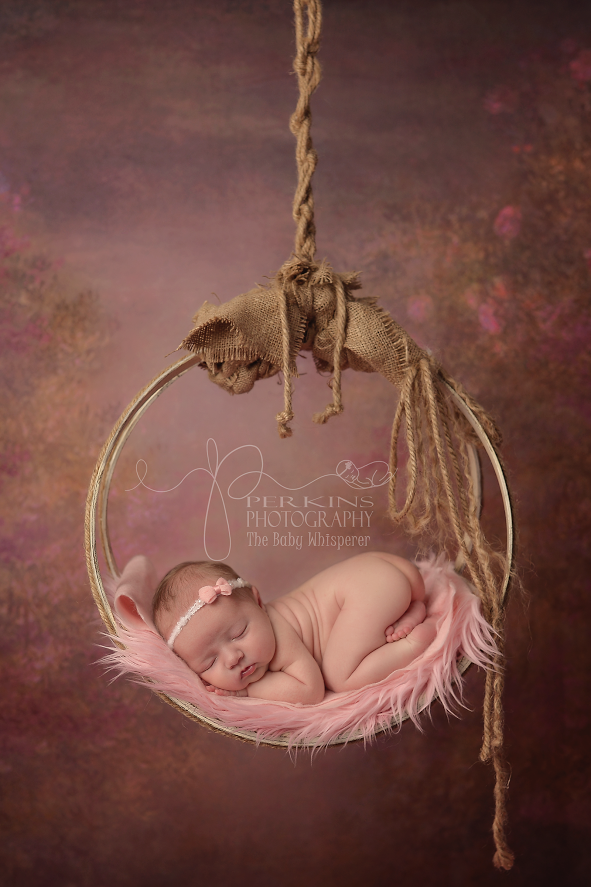 "Image of ""Simply Rustic"" Distressed Vanilla Latte Newborn Wood & Jute Hammock or Dream Catcher"