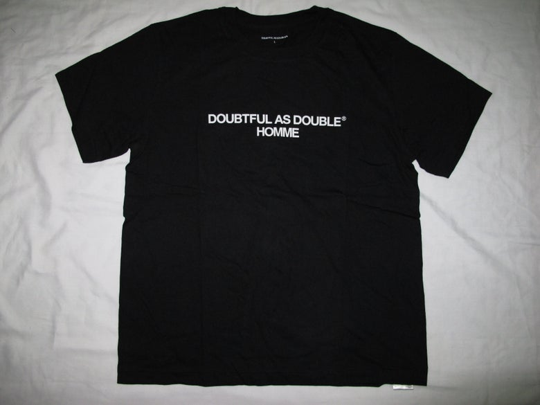 Image of DOUBTFUL AS DOUBLE® by NIGO & Tetsu Nishiyama (Wtaps) - Homme Tee(Black)