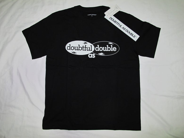 Image of DOUBTFUL AS DOUBLE® by NIGO & Tetsu Nishiyama (Wtaps) - Logo Tee(Black)