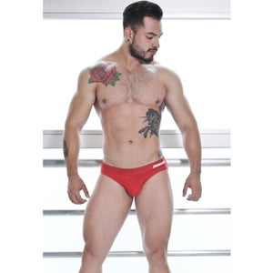 Image of BRIEF SUIT RED