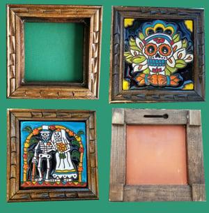 Image of Blue Tribal Hand Coaster Tile