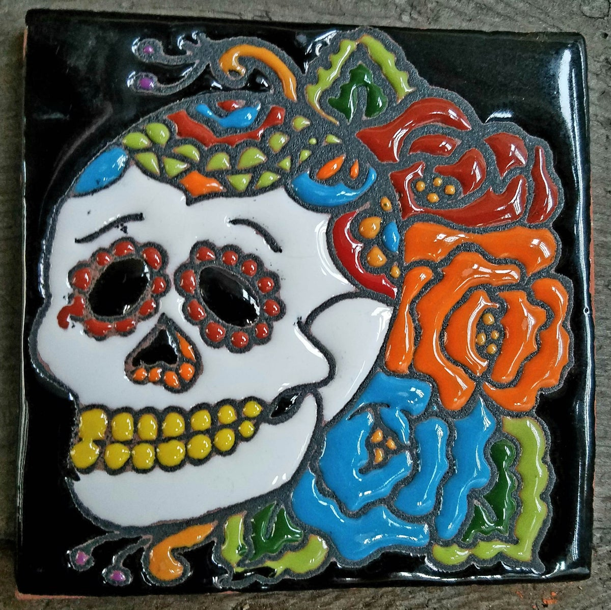 Image of Tres Flores Coaster Tile