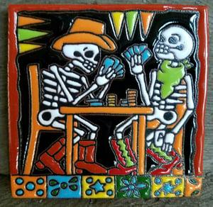 Image of Texas Hold em Poker Coaster Tile