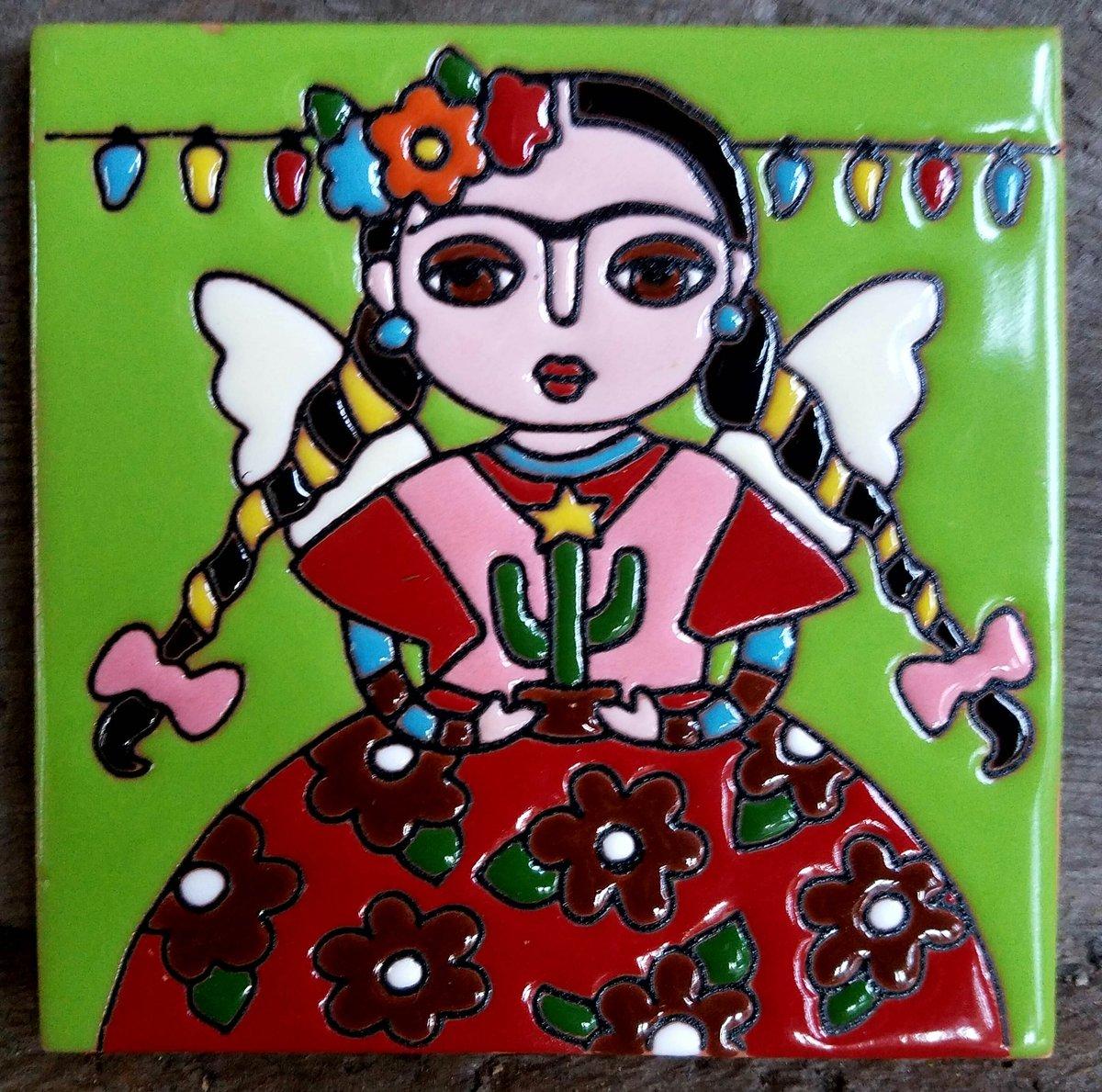 Image of Mini Frida xmas Lights Coaster Tile