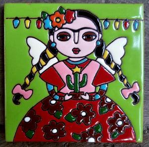 Image of Mini Frida Catus Coaster Tile