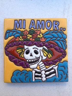 Image of Mi Amor La Catrina Coaster Tiles