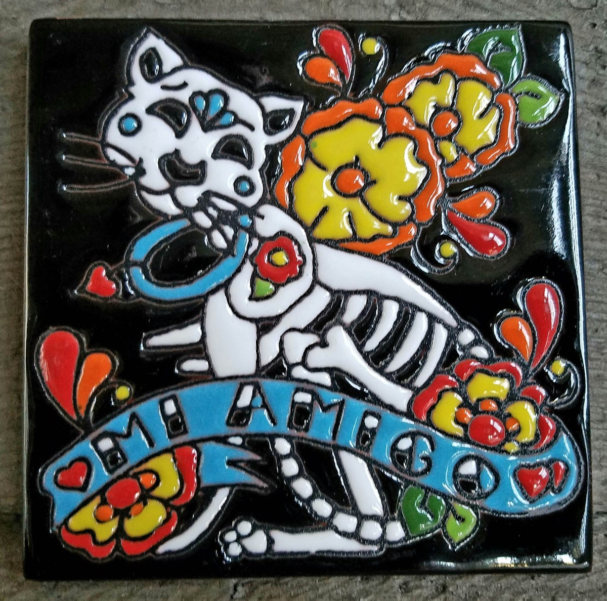 Image of Mi Amigo Cat Coster Tile