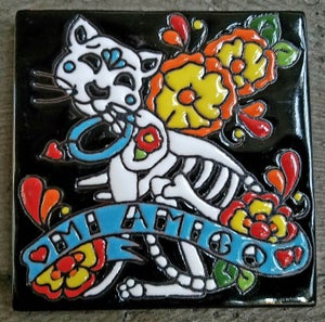 Image of Mi Amigo Cat Coster Tile