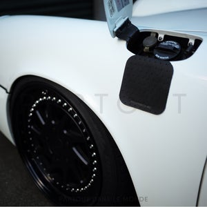 Image of 930 / 964 / 993 Black Perforated Leather Gas Flap