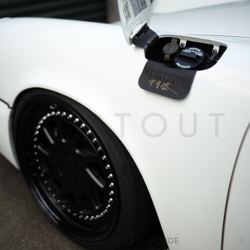 Image of Early 911 Black Leather RWB Gas Flap