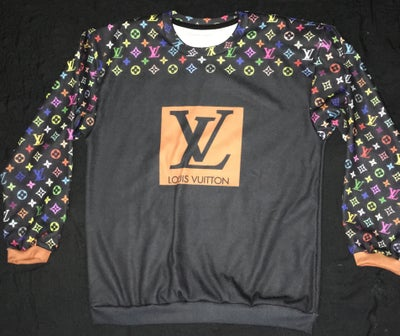 Image of Louis Vuitton black/checker fleece